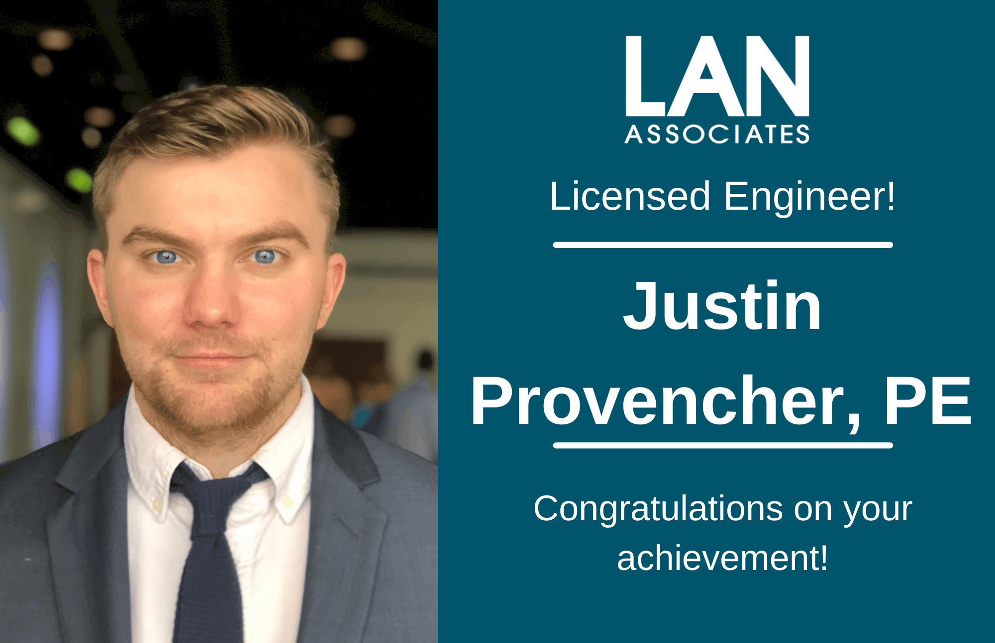 LAN Engineer Justin Provencher Receives License